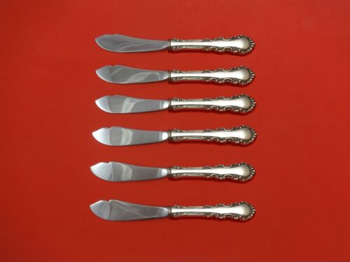 Georgian Rose by Reed & Barton Sterling Silver Trout Knife Set 6pc. Custom