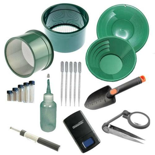 """M10 Green Mini Gold Classifier Screen & Gold Pan Panning Kit 12"""" &10"""" Pans! <br/> SAME DAY SHIPPING PRIORITY MAIL Have it in 2 to 3 Days!"""