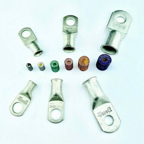 Battery Cable Ends Lugs, Copper Ring Terminals, Wire Connectors W Solder Pellets