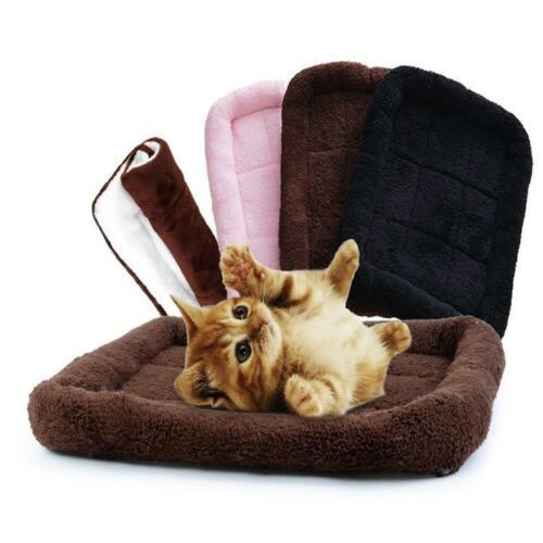Pet Bed Cushion Mat Pad Dog Cat Cage Kennel Crate Warm Cozy Soft House S M Size