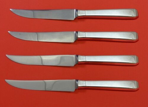 Craftsman by Towle Sterling Silver Steak Knife Set 4pc HHWS  Custom Made 8 1/2""