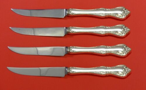 """Debussy by Towle Sterling Silver Steak Knife Set 4pc HHWS  Custom Made 8 1/2"""""""