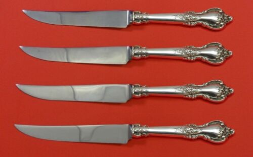 Delacourt by Lunt Sterling Silver Steak Knife Set 4pc HHWS Custom Made 8 1/2""