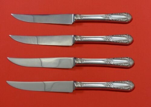 Inaugural by State House Sterling Silver Steak Knife Set 4pc HHWS  Custom 8 1/2""