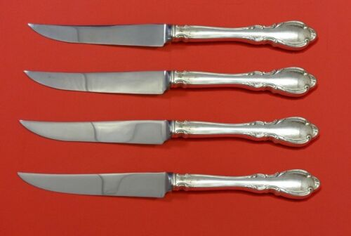 """Legato by Towle Sterling Silver Steak Knife Set 4pc HHWS  Custom Made 8 1/2"""""""