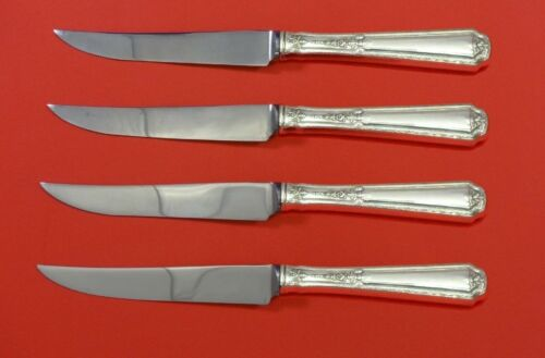 """Louis XIV by Towle Sterling Silver Steak Knife Set 4pc HHWS  Custom Made 8 1/2"""""""