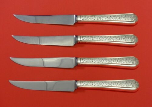 """Old Brocade by Towle Sterling Silver Steak Knife Set 4pc HHWS  Custom 8 1/2"""""""