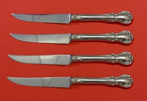 """Old Master by Towle Sterling Silver Steak Knife Set 4pc HHWS  Custom Made 8 1/2"""""""