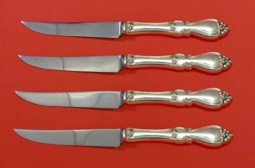 Queen Elizabeth I by Towle Sterling Silver Steak Knife Set 4pc HHWS  Custom Made