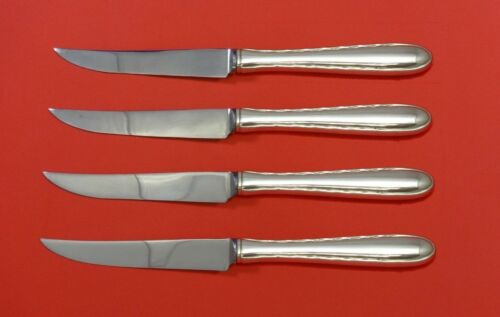 Silver Flutes by Towle Sterling Silver Steak Knife Set 4pc HHWS  Custom 8 1/2""