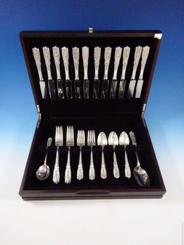 Milburn Rose by Westmorland Sterling Silver Flatware Set 12 Service 50 Pieces