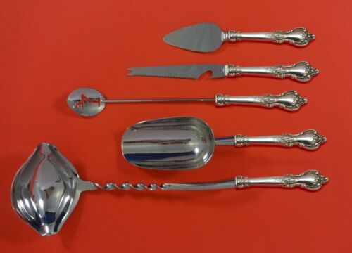 Delacourt by Lunt Sterling Silver Cocktail Party Bar Serving Set 5pc Custom Made