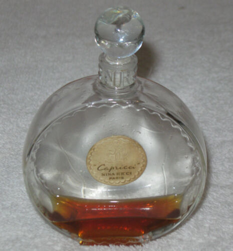 "Vintage Nina Ricci Lalique Perfume Bottle - Capricci - 4"" Height - 1940's"