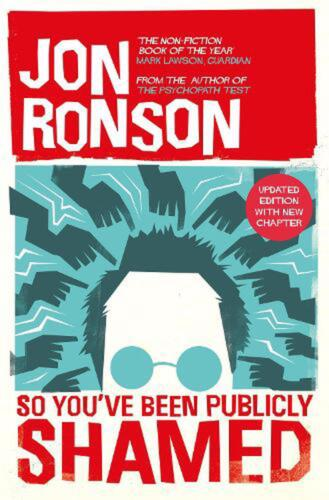 So You've Been Publicly Shamed by Jon Ronson Paperback Book Free Shipping!