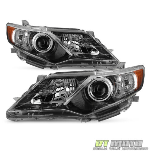 For 2012-2014 Toyota Camry [SE Style] Projector blk Headlights lamps Left+Right <br/> Limited Life Time Warranty,free return,SAE DOT approved