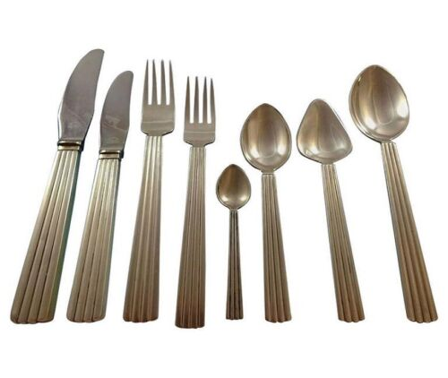 Bernadotte by Georg Jensen Sterling Silver Flatware Set For 8 Service 66 Pieces