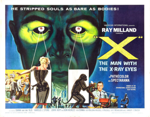 """The Man with the X-ray Eyes Movie Poster Replica 11x14"""" Photo Print"""