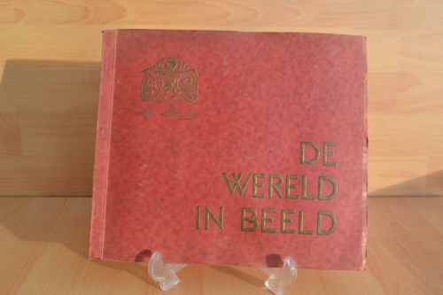 #Old Trade Card Book#1932 Scrapbook Dutch World Pictures Cigarette Advertising