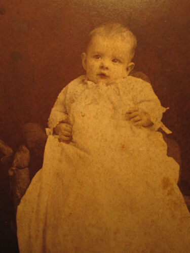 VICTORIAN COLORED BABY GRANDPA BOLUSS LUTZ PORTSMOUTH OH OHIO OLD CABINET PHOTO