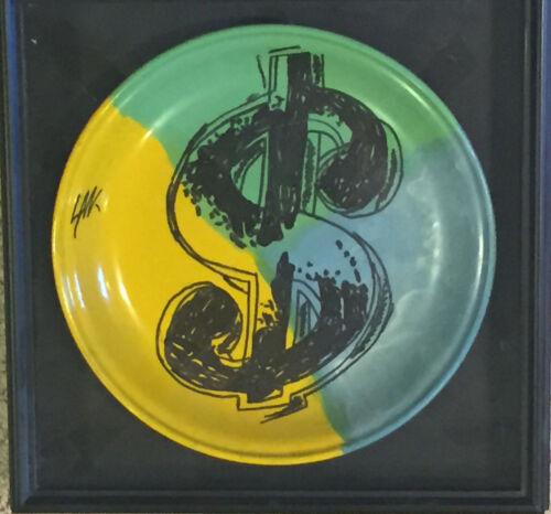 Money Plate by Steve Kaufman Painting Framed Ready to Hang