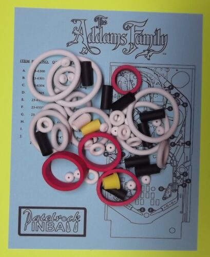 Top Holiday Gifts 1992 Bally / Midway The Addams Family pinball rubber ring kit TAF