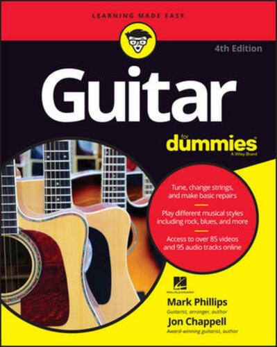 Guitar for Dummies, 4th Edition by Mark Phillips (English) Paperback Book Free S