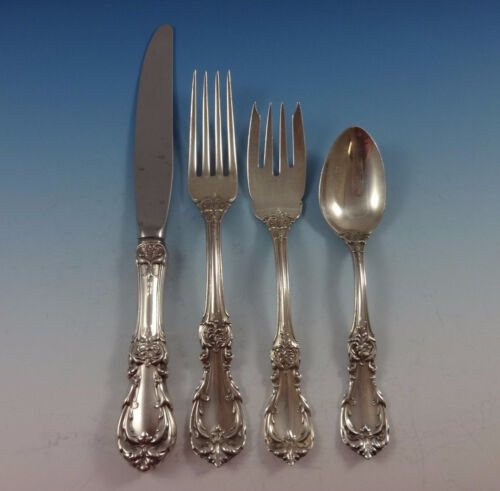 Burgundy by Reed & Barton Sterling Silver Flatware Set For 8 Service 33 Pieces