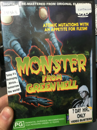 Monster From Green Hell ex-rental DVD (sci-fi creature B movie) rare