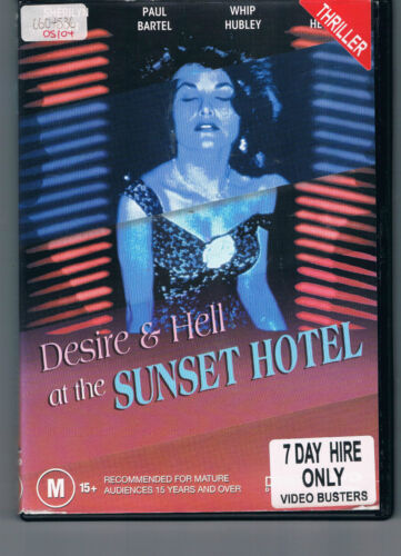 Desire And Hell At The Sunset Hotel / Motel (1991) ex-rental region 4 DVD (RARE)