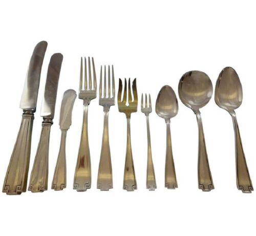 Etruscan by Gorham Sterling Silver Flatware Service For 12 Set 130 Pieces Dinner