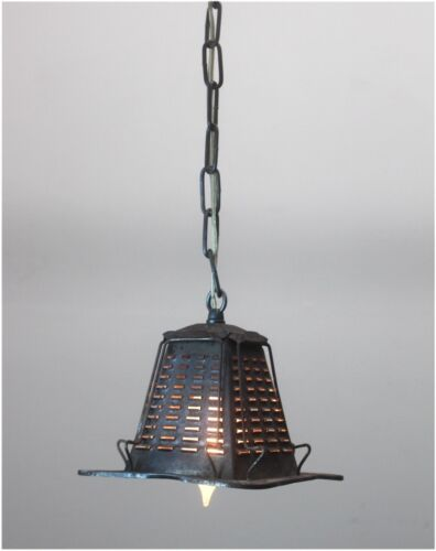 Tin Metal Four Slice Toaster Pendant Ceiling Light Fixture Real Vintage Antique