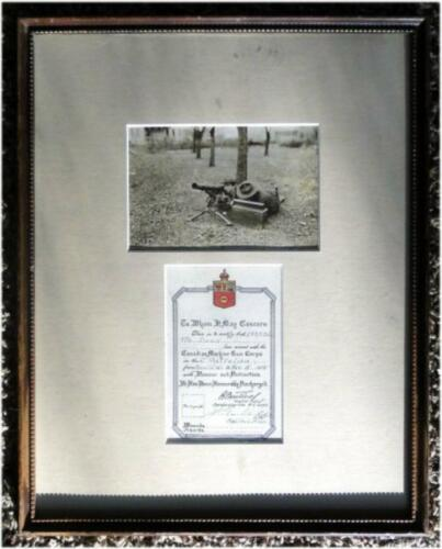 Rare Authentic WWI World War One Canadian Machine Gun Honorable Discharge ArtCanada - 13963