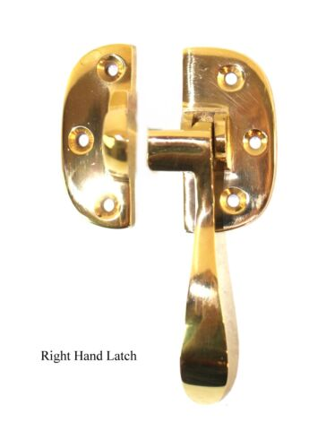 Ice Box Latch Solid Brass Right Hand for Oak Old Refrigerator Antique Replica