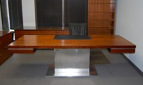 Warren Platner Executive Rosewood Desk Credenza