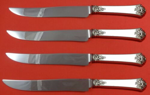 Castle Rose by Royal Crest Sterling Silver Steak Knife Set Texas Sized Custom