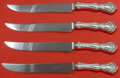 Chateau Rose by Alvin Sterling Silver Steak Knife Set Texas Sized Custom