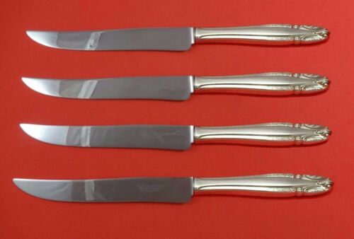 Stradivari by Wallace Sterling Silver Steak Knife Set 4pc Texas Sized Custom