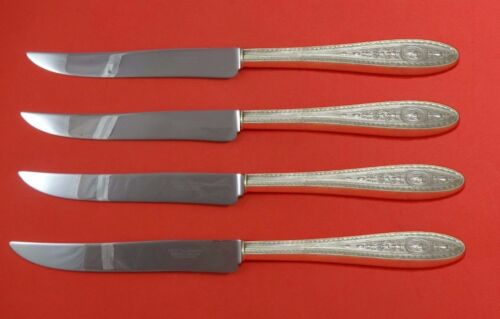 Wedgwood by International Sterling Silver Steak Knife Set 4pc Texas Sized Custom