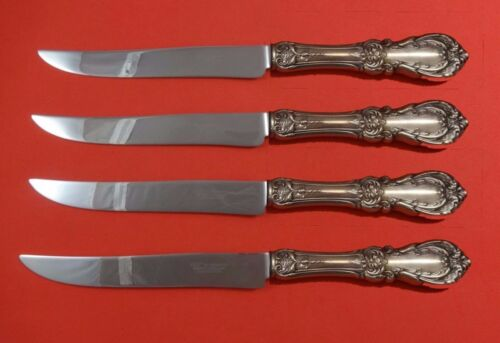 Burgundy by Reed and Barton Sterling Silver Steak Knife Set Texas Sized Custom