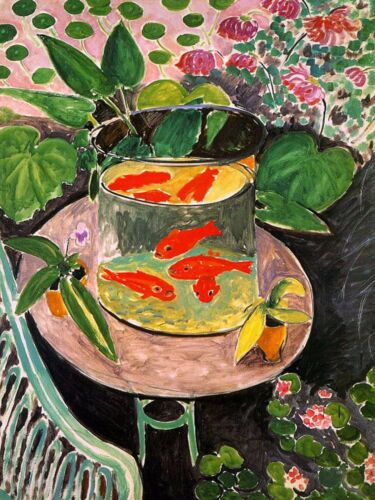 The Goldfish by Henri Matisse mono deluxe Needlepoint Canvas 9 x 12 inch image