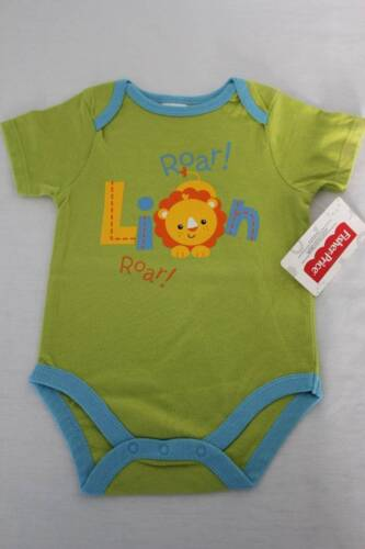NEW Baby Boys Bodysuit 6 - 9 Months Lion Creeper Outfit 1 Piece Infant Animals