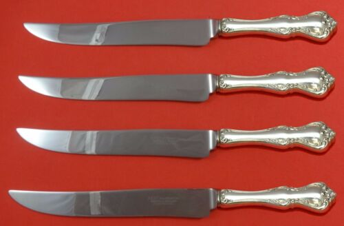 Debussy by Towle Sterling Silver Steak Knife Set 4pc Large Texas Sized Custom