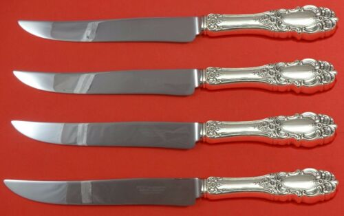 Grand Duchess by Towle Sterling Silver Steak Knife Set 4pc Texas Sized Custom