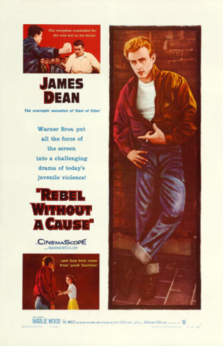 """James Dean Rebel without a Cause Movie Poster Replica 13x19"""" Photo Print"""