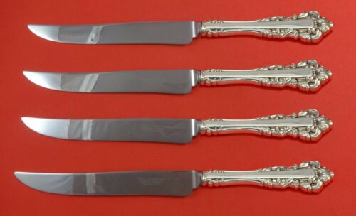 Medici New by Gorham Sterling Silver Steak Knife Set 4pc Texas Sized Custom