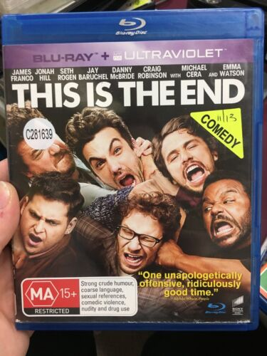This Is The End ex-rental blu ray (2013 Seth Rogen comedy movie)