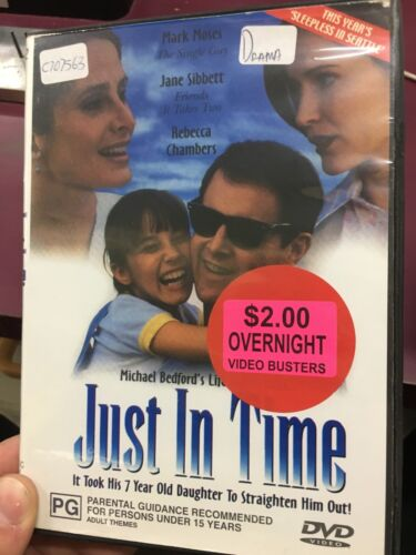 Just In Time ex-rental region 4 DVD (1997 comedy drama movie) rare