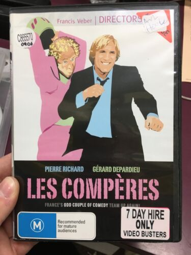 Les Comperes ex-rental region 4 DVD (Gerard Depardieu French comedy movie) RARE