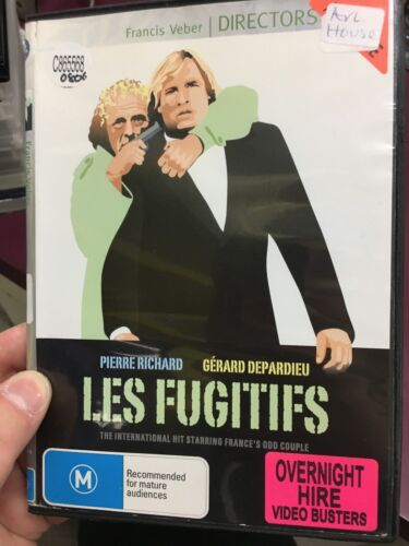Les Fugitifs ex-rental region 4 DVD (Gerard Depardieu French comedy movie) rare