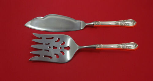 American Victorian by Lunt Sterling Silver Fish Serving Set 2 Piece Custom HH